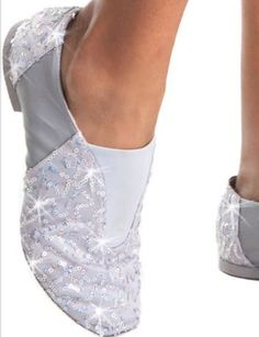 Sparkly jazz shoes