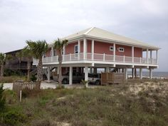 Gulf Beaches Vacation Rental - VRBO 455010 - 4 BR St. George Island House in FL, Island Princess, Beach Front with Pool. Sleeps 8