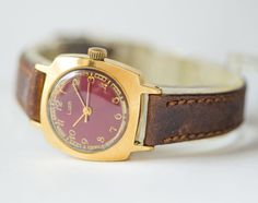 Mint condition women's watch Ray gold plated wrist by SovietEra, $99.00