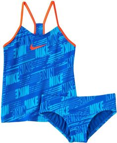 Love this blue modest swim suit for girls. Girls 7-14 Nike 2-pc. Tankini Swimsuit Set