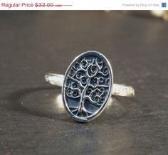 SALE Family tree ring, Tree of life ring, Sterling silver ring, delicate jewelry for everyday