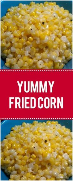 Yummy fried corn ingredients: 10 large cobs, fresh corn – 1 stick butter – 3 tablespoons canola oil – 2 tablespoons sugar – 1 teaspoon flour – cup milk – salt/pepper – instructions: in a large skillet, heat butter and oil over medium-high heat Fried Corn Recipes, Veggie Recipes, Cooking Recipes, Canned Corn Recipes, Fried Corn Recipe With Flour, Recipe With Fresh Corn, Recipes With Corn, Sweet Corn Recipes, Cauliflower Recipes