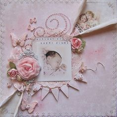 Shabby Chic Butterfly Clay Embellishment Set by LittleScrapShop