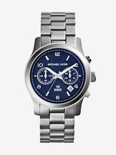 Exclusively Ours in the U.S. in Michael Kors stores and on michaelkors.com. Part of the 100 Series Watch Collection for the Watch Hunger Stop Campaign, our iconic Runway watch is designed in a lustrous silver-tone finish with a brilliant map-engraved face. For every watch sold, the World Food Programme will provide 100 meals for hungry children in need. You'll be supporting a great cause and injecting your look with timeless style. Talk about a win-win.