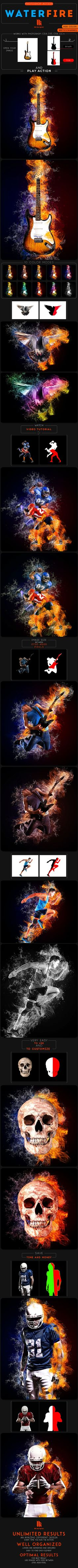 Waterfire Photoshop Action - Photo Effects Actions