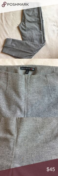 "HOST PICK Banana Republic grey Mad Men dress pants Banana Republic Mad Men Collection dress pants. Size 6. Size zipper and clasp closure. Fully lined. These pants are on the high waisted side, have pretty straight legs, and hit at my ankle (5'8""). I think they look best with a bit of a heel but can be worn with flats too! 29"" inseam. 10"" from top of waist to crotch. 6"" wide at ankle. In really nice condition, 2 very small spots on left front panel and 1 at center of waist (see photos) that…"