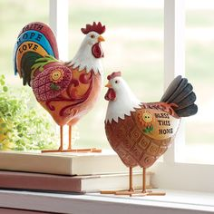Rooster with wineglass original Rooster gift idea or just a nice idea to put a smile on your walls.