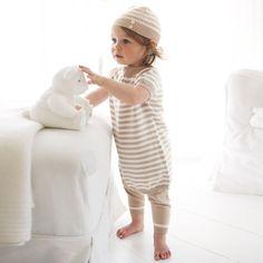 Baby Girl Organic Cotton Knitted Stripe Dress