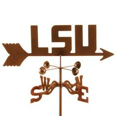 Louisiana State Tigers by Garden Fun. $49.95. Our LSU Tigers Weathervane is truly an impressive garden decor accent, and a perfect gift idea for all Louisiana State University alumni, students and fans. Each of our collegiate sports weathervane designs are hand crafted using 14 gauge steel and laser cut in one piece, minimizing welding to provide a clean look with sharp detail. A special three step finishing process has been perfected to give these wonderful wi...