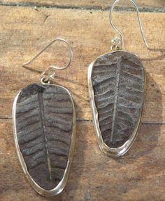 Fossil-fern-earrings