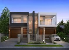 Duplex house design, duplex house plans, casa duplex, modern townhouse, t. Bungalow Haus Design, Duplex House Design, Small House Design, Modern House Design, Small Bungalow, Modern Townhouse, Townhouse Designs, Duplex House Plans, Modern House Plans