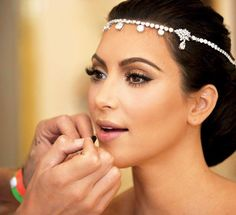 Kim Kardashian wedding makeup. Can't stand the woman, but her makeup is gorgeous!