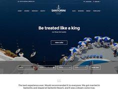 Santorini Resort   Perfect Alluring #WordPressTheme For Showcasing Hotels & Resorts  #WordPress #Hotels #Resorts
