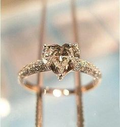 Heart shaped champagne diamond
