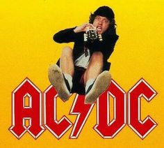 AC/DC's Angus Young.