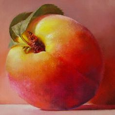 PEACH V, painting by artist Barbara Kacicek