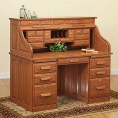 Merveilleux Roll Top Desks For Home Office Desks For Home, Home Desk, Hardwood  Furniture,