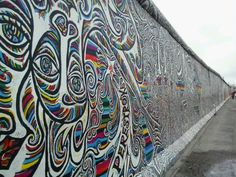 East Side Gallery in Berlin Berlin City, Berlin Wall, Places Ive Been, Places To Go, East Side Gallery, Monuments, Cultural Capital, Shopping Street, Eurotrip