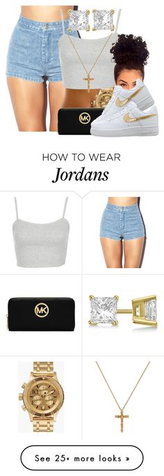 """""""Back To Sleep- Chris Brown"""" by pinkswagg15 on Polyvore featuring Forever 21, Allurez, Nixon, Topshop and MICHAEL Michael Kors"""