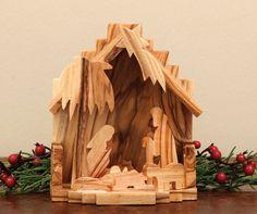 wooden Jerusalem nativity