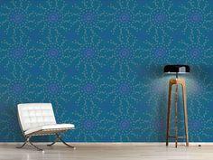Design #Tapete Punktierte Blumen