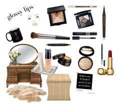 """Morning Make up Ritual"" by lmwoellert on Polyvore featuring beauty, Home Decorators Collection, Epoque, Julia Knight, Laura Mercier, Shiseido, Marc Jacobs, Christian Dior, Laura Geller and Lancôme"