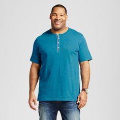 Men's Big Green Short Sleeve Henley Shirt 5XB - Merona