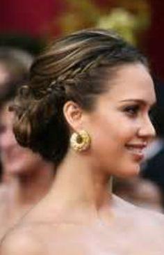 Wedding Hairstyles, Celebrity Hairstyles, Wedding Hairstyles For Long Hair, Hair Updos My Hairstyle, Pretty Hairstyles, Braided Hairstyles, Wedding Hairstyles, Braided Updo, Wedding Updo, Bridesmaid Hairstyles, Bun Braid, Bun Updo