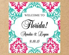Wedding Welcome Bag Labels Hotel Label Stickers Gift