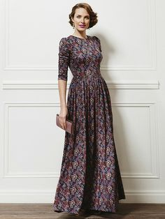 Pretty in purple Modest Maxi Dress, Modest Wear, Dress Robes, Modest Outfits, Dress Skirt, Stylish Dresses, Fashion Dresses, Frocks And Gowns, Vestidos Vintage