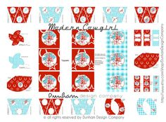 Modern Cowgirl Party Printable Set by Dunham Design Company