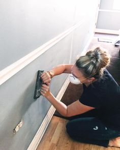 Prep work for painting and adding wainscoting