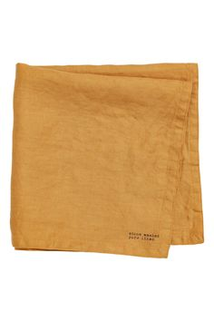 Washed linen napkin - Dark yellow - Home All | H&M GB 1