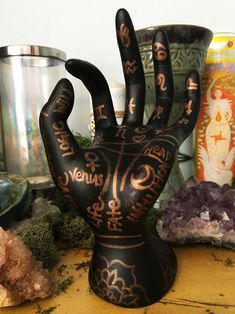 Witch Craft: Painted Palmistry Guide — Making Magic Witch Craft, Palm Of Your Hand, Make Your Own, How To Make, Palmistry, Displaying Collections, Halloween 2019, Full Moon, Magick