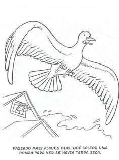 Desenhos para colorir e pintar: A Arca de Noé...