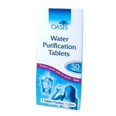 Pack of 30 Oasis Water Purification Tablets 17 mg Emergency Survival Prepper BOB