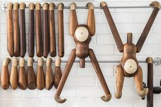 This wooden monkey is a design classic which was MADE by Kay Bojesen in the early 50's. Bojesen was a Danish silversmith and designer who created wonderful wooden toys, one might call him the real...