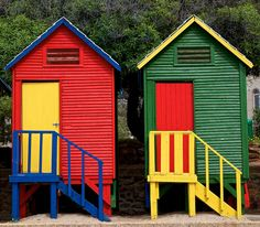 Cape Peninsula, South tips Cabana, Beach Cottages, Beach Houses, Wonderful Places, Beautiful Places, Cape Town South Africa, Floating House, Out Of Africa, World Of Color