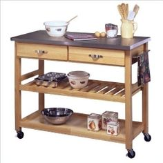 The perfect solution to a small kitchen that lacks counter space and storage room is a kitchen cart. There are many options in kitchen carts....