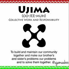 Happy #Kwanzaa! Day 3 is #Ujima (Collective Work and Responsibility)