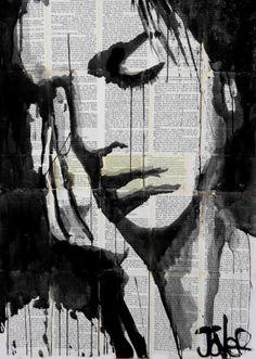 "Saatchi Art Artist Loui Jover; Drawing, ""deep"" #art"