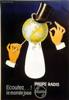 Philips Radio. Ecoutez ....! le monde joue (Listen! the world is playing)   Repinned from Philips Architecture