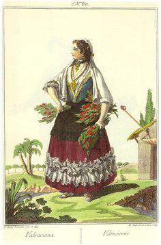 Por Juan de la Cruz Cano y Olmedilla para su obra Colección de trajes de España publicada en 1777.