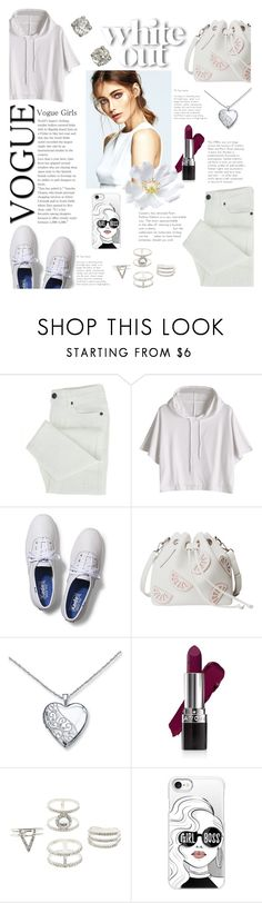 """White out"" by yuree ❤ liked on Polyvore featuring Keds, Avon, Charlotte Russe and Casetify"