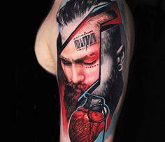 Daze tattoo by Dave Paulo