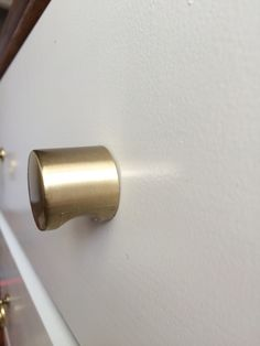 peggy satin brass cabinet knob drawer pull by forgehardwarestudio