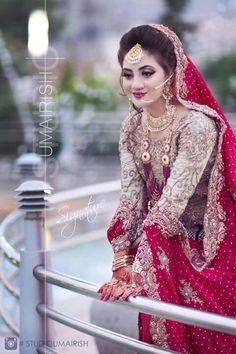Given by Haider Pakistani Bridal Makeup, Indian Bridal Fashion, Pakistani Bridal Dresses, Pakistan Bridal, Desi Bride, Desi Wedding, Wedding Bride, Bridal Makeover, Asian Bridal