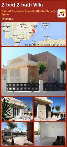 2-bed 2-bath Villa in Ciudad Quesada, Alicante (Costa Blanca), Spain ►€129,000 #PropertyForSaleInSpain