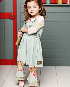 Matilda Jane Clothing-love this dress plus the adorable leggings underneath