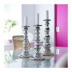 IKEA - SKIMMER, Candlestick, Mouth blown; each candle holder is shaped by a skilled craftsman.